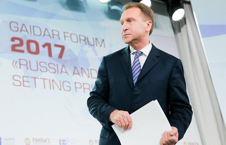 Шувалов не исключил отмену контрсанкций Россией до конца 2017 года