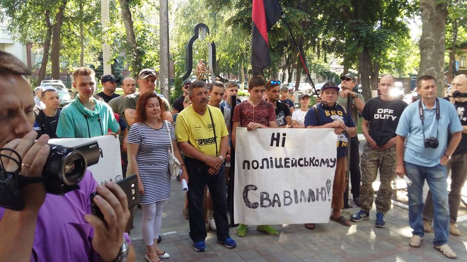 В Киеве требовали отставки начальника патрульной полиции