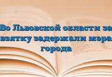 Во Львовской области за взятку задержали мэра города