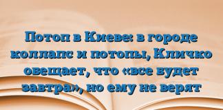 Потоп в Киеве: в городе коллапс и потопы, Кличко обещает, что «все будет завтра», но ему не верят