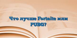 Что лучше Fortnite или PUBG?