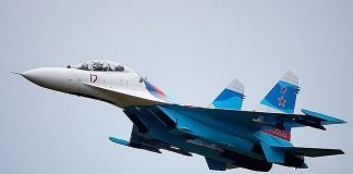 Российский истребитель Су-27