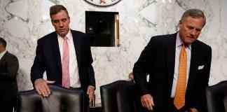 Сенаторы Марк Уорнер (слева) и Ричард Берр