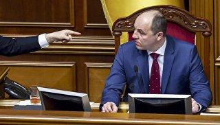 Председатель Верховной рады Украины Андрей Парубий