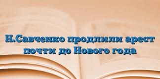 Н.Савченко продлили арест почти до Нового года
