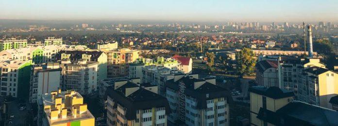 Киев накрыла густая дымка