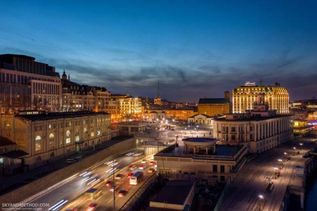 Рассвет в Киеве с высоты птичьего полета: появились невероятные снимки 6