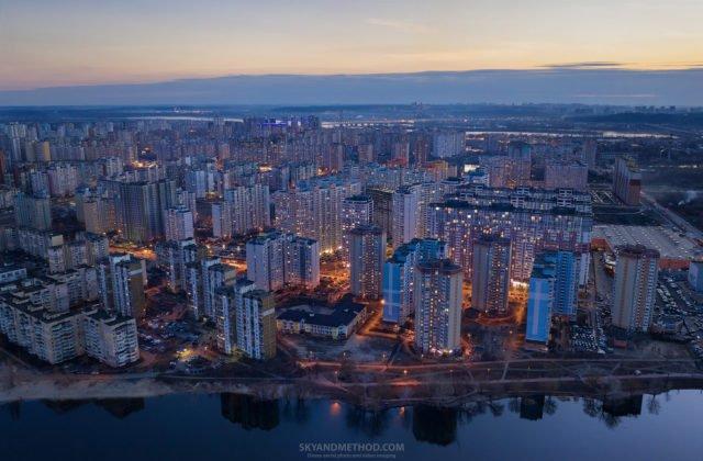 Рассвет в Киеве с высоты птичьего полета: появились невероятные снимки 4