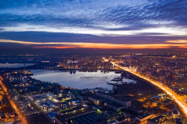 Рассвет в Киеве с высоты птичьего полета: появились невероятные снимки 2