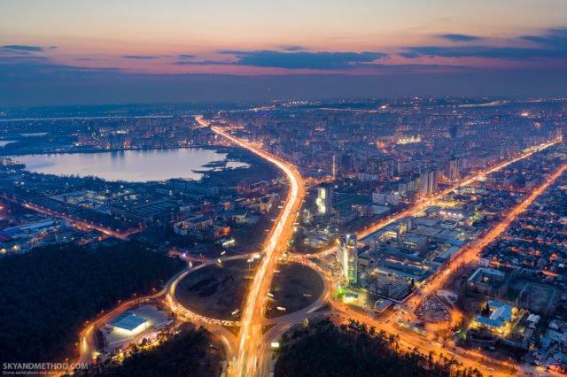 Рассвет в Киеве с высоты птичьего полета: появились невероятные снимки 5