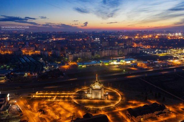 Рассвет в Киеве с высоты птичьего полета: появились невероятные снимки 7