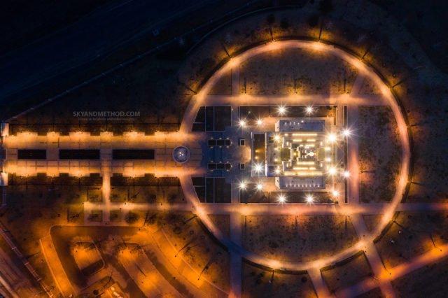 Рассвет в Киеве с высоты птичьего полета: появились невероятные снимки 8