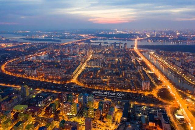 Рассвет в Киеве с высоты птичьего полета: появились невероятные снимки 9