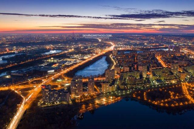 Рассвет в Киеве с высоты птичьего полета: появились невероятные снимки 10