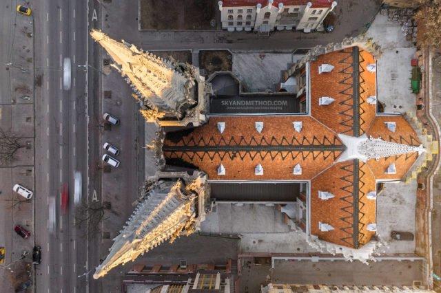 Рассвет в Киеве с высоты птичьего полета: появились невероятные снимки 11