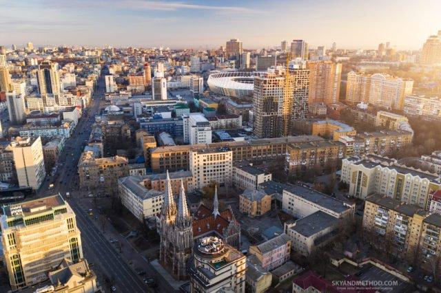 Рассвет в Киеве с высоты птичьего полета: появились невероятные снимки 13