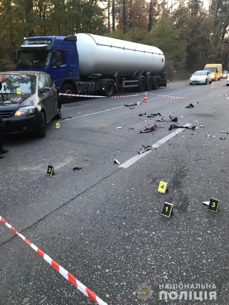 Новости Киева - фото с места аварии девушки-мотоблогера Елены Кузавини 1