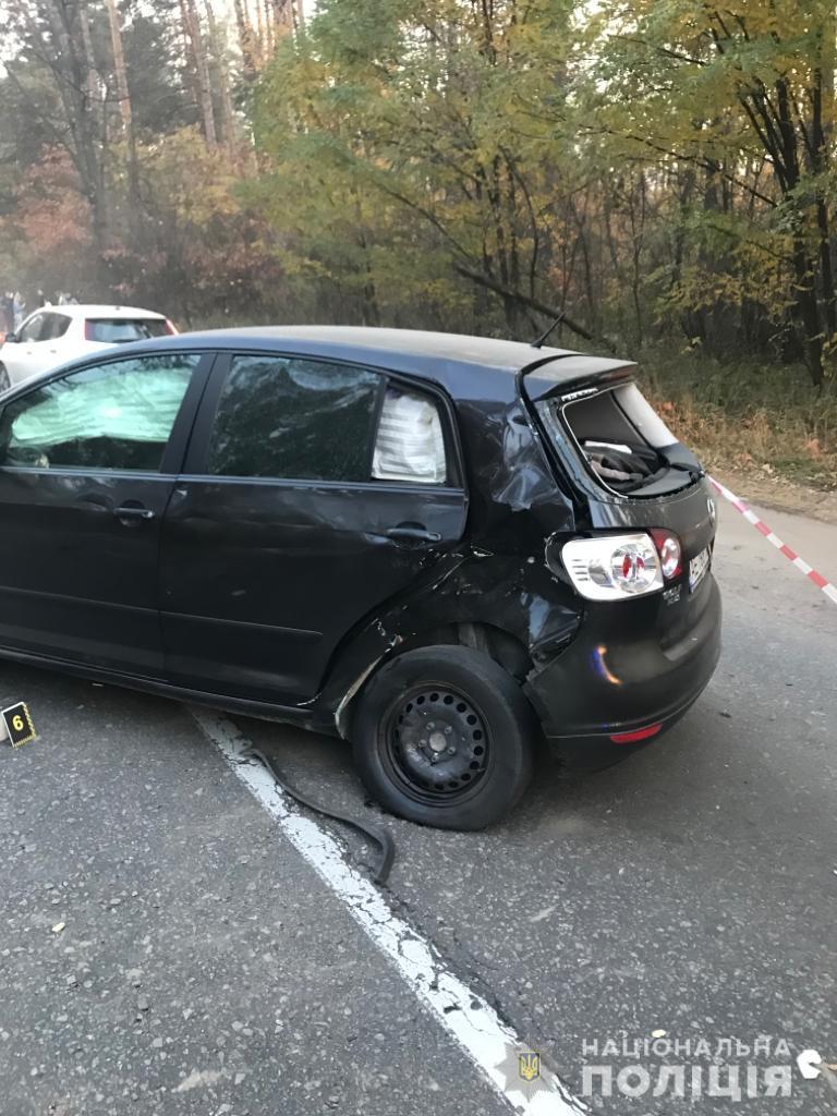 Новости Киева - фото с места аварии девушки-мотоблогера Елены Кузавини 2