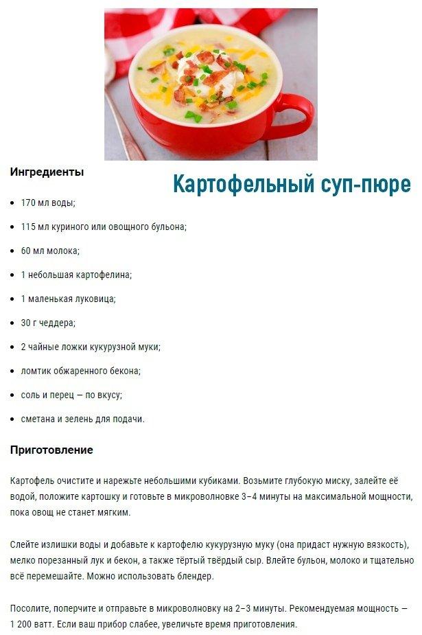 Рецепты простых и быстрых блюд в микроволновке 1