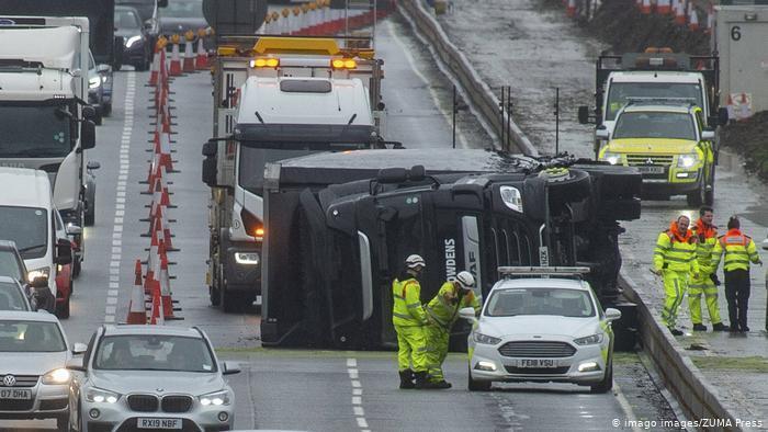 Разрушительный ураган в Европе
