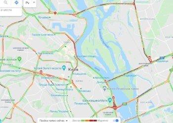 Утром Киев сковали серьезные пробки: где город