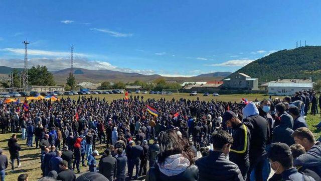 акция протеста армян в Ахалкалаки