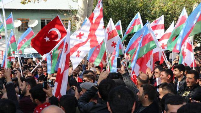 Этнические азербайджанцы в грузинском городе Марнеули