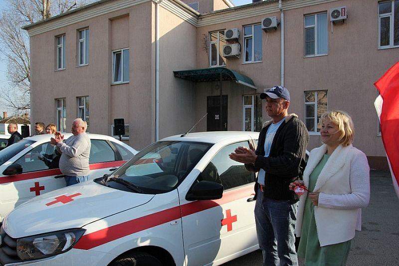 Медицинские учреждения Темрюкского района получили новые легковые автомобили
